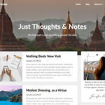 Adaptable Notes WordPress Theme