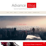 Advance Blog WordPress Theme
