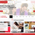 Advance Education Wordpress Theme