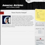 Anarcho Notepad WordPress Theme