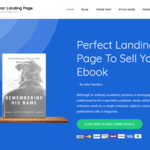 Author Landing Page Wordpress Theme