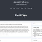 AwesomePress WordPress Theme