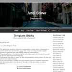Azul Silver Wordpress Theme