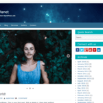 Blue Planet WordPress Theme