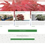 Bonsai blog Wordpress Theme