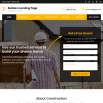 Builders Landing Page Wordpress Theme