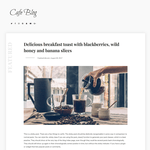 Cafe Blog WordPress Theme