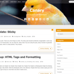Canary Wordpress Theme