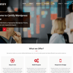 Certify Wordpress Theme