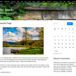Color Block Wordpress Theme
