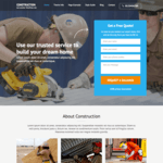 Construction Landing Page Wordpress Theme