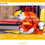 Construction Map Wordpress Theme