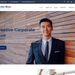 Corporate Blue Wordpress Theme