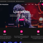 Creativ Musician Wordpress Theme