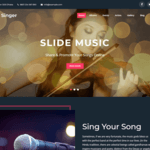 Creativ Singer WordPress Theme