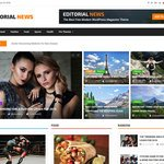 Editorial News Wordpress Theme