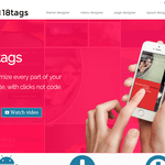 Eighteen tags Wordpress Theme