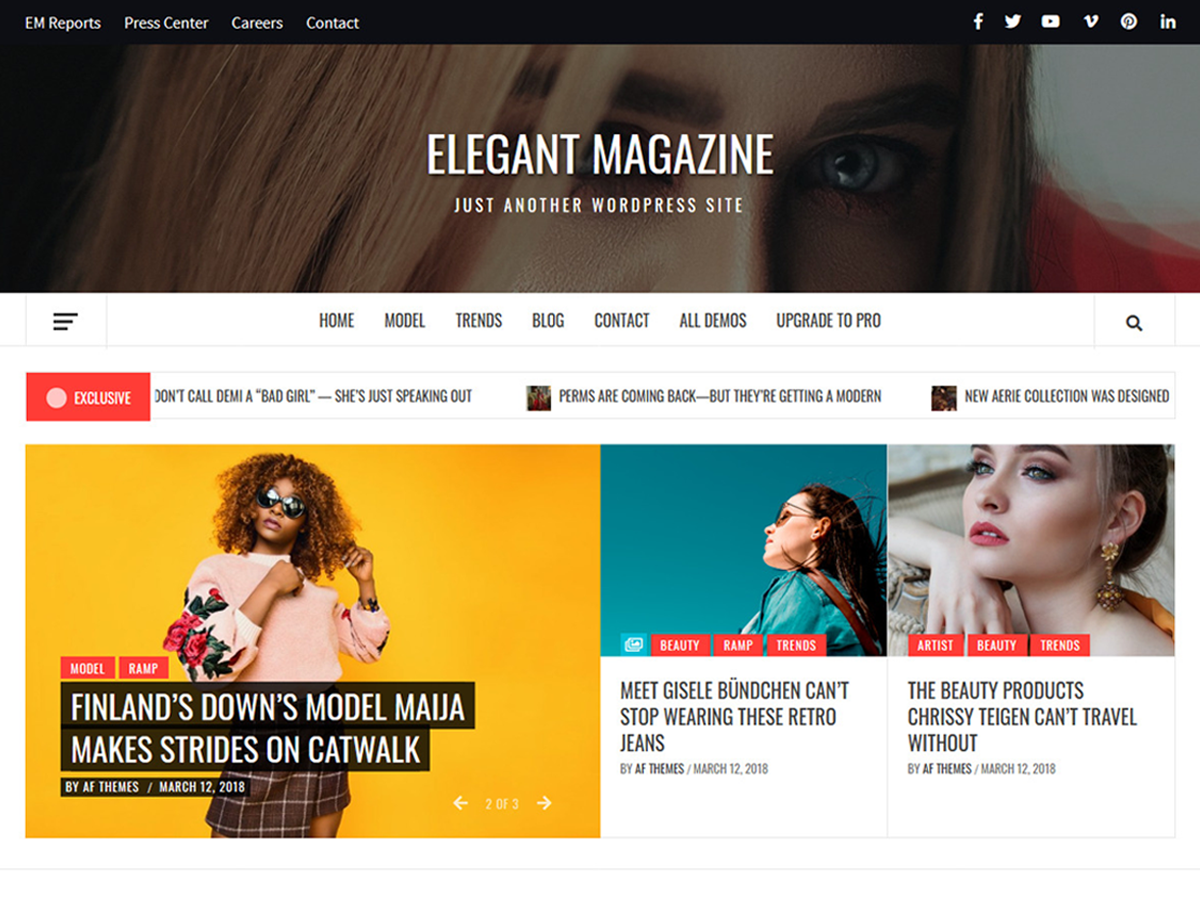 Elegant Magazine Wordpress Theme