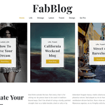 FabBlog Wordpress Theme