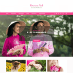 Feminine Pink Wordpress Theme