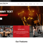 Fitness Club Lite Wordpress Theme