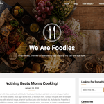 Foodie blog Wordpress Theme