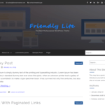Friendly Lite WordPress Theme