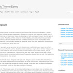 Generic WordPress Theme