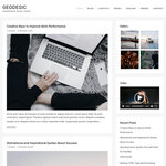 Geodesic Wordpress Theme