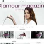 Glamour magazine Wordpress Theme