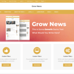 Grow News Wordpress Theme