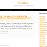 Headline Wordpress Theme
