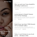 Journal Blog Wordpress Theme