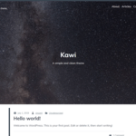 Kawi WordPress Theme