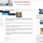 Leslie Wordpress Theme