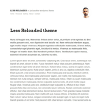 Less Reloaded Wordpress Theme