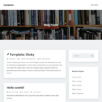 Lessons Wordpress Theme