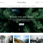 Maicha Blog WordPress Theme