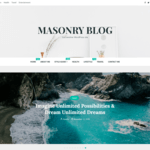 Masonry Blog WordPress Theme