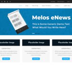 Melos eNews WordPress Theme