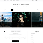 Minimal Blogger Wordpress Theme