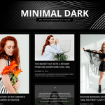 Minimal Dark Wordpress Theme