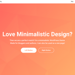 Minimalisticky Wordpress Theme