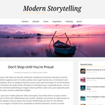 Modern Storytelling Wordpress Theme