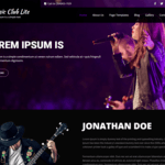 Music Club Lite Wordpress Theme