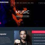 Musicsong Wordpress Theme