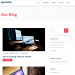 myprofile WordPress Theme