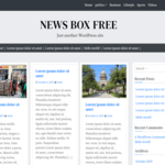 News Box Free WordPress Theme