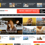 News Vibrant Mag Wordpress Theme