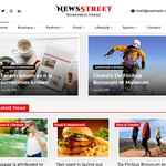 NewsStreet WordPress Theme